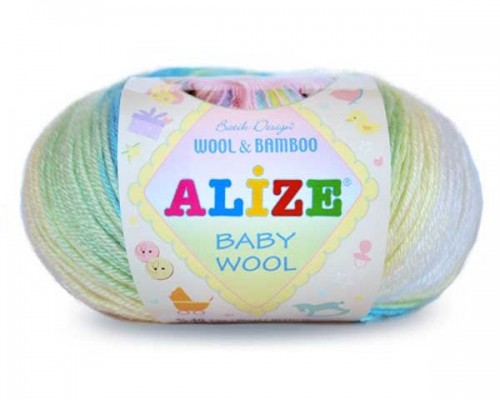 Alize Baby Wool Batik (40% Акрил 20% Бамбук 40% Шерсть, 50гр/175м)