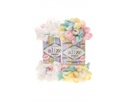 Alize Puffy Color (100% Микрополиэстр, 100гр/9,5м)