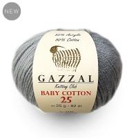 Gazzal Baby Cotton 25 (50% Хлопок, 50% Акрил, 25гр/82м)