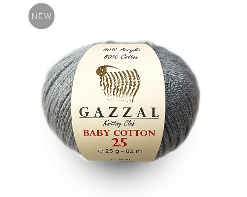 Пряжа Gazzal Baby Cotton 25 Газзал Беби Коттон 25 купить на официальном сайте pryazha-vsem.ru недорого по невысоким ценам, со скидками почти по оптовым ценам дешево в магазине Пряжа ВСЕМ