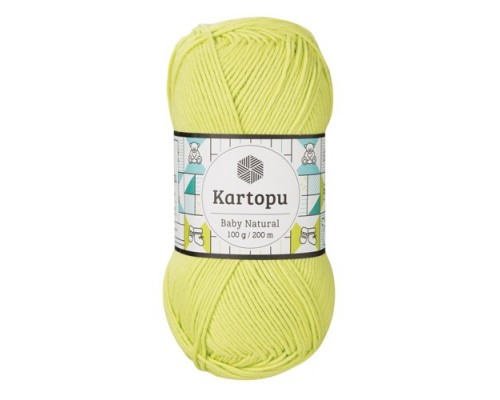 Kartopu Baby Natural (51% Акрил 49% Хлопок, 100гр/160м)