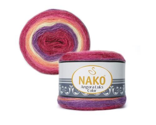 Nako Angora Luks Color (80% Акрил,  5% Мохер,  15% Шерсть, 150гр/810м)