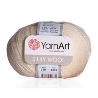 YarnArt Silky Wool (65% Шерсть Мериносовая 35% Шёлк искусственный, 25гр/190м)